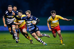 Bristol Rugby Winger Charlie Amesbury in action - Mandatory byline: Rogan Thomson/JMP - 17/01/2016 - RUGBY UNION - Clifton Rugby Club - Bristol, England - Scarlets Premiership Select XV v Bristol Rugby - B&I Cup.