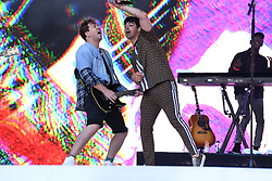 Apple Music and Capital bring together Jonas Brothers and Busted to perform Year 3000 at CapitalÕs Summertime Ball 2019. Picture Credit Should Read: Doug Peters/EMPICS