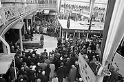 2/10/1963<br /> 10/22/1963<br /> 22 October 1963<br /> R.D.S. Scientific Exhibition opens, Ballsbridge, Dublin. <br /> Taoiseach Sean Lemass  addressing the crowd as he launches the official opening of the exhibition.