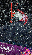 Matt Margetts during the men's half pipe finals on February 18, 2014 at the Rosa Khutor Extreme Park in Krasnaya Polyanna during the XXII Olympic Winter Games in Sochi, Russia.