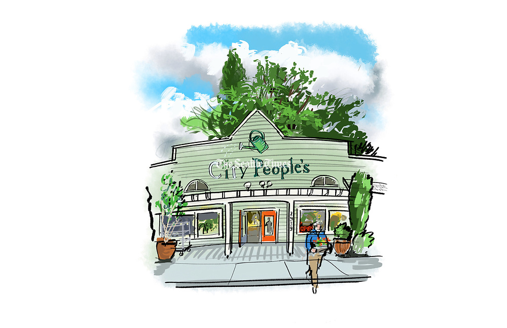 City People's Garden Store is one of many small businesses along Madison Street near Lake Washington Boulevard. (Gabriel Campanario / The Seattle Times)