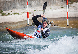 Jakse Zan (KK Tacen / Slovenia) during ICF Canoe Slalom Ranking Race Tacen 2018, on April 8, 2018 in Ljubljana, Slovenia. Photo by Urban Meglic / Sportida