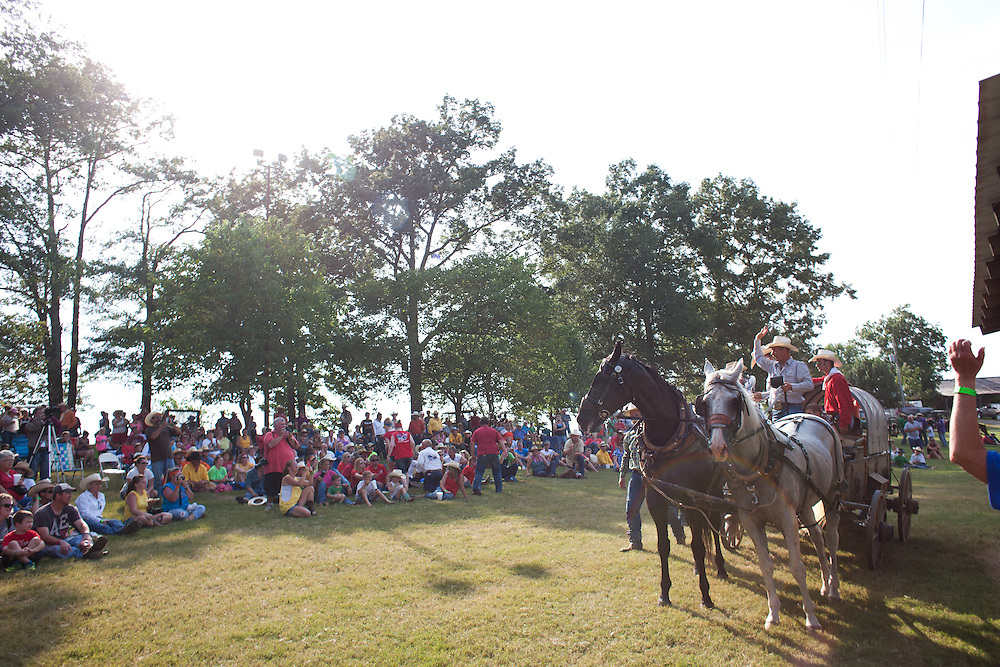 2013 National Chuckwagon Races in Clinton, Arkansas.