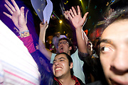 MEXICO CITY CLUBBERS,SHOUTING AND WAVING