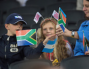 London, Great Britain, &quot;Sitting On The Fence&quot;, but love Rugby, South Africa vs Argentina. 2015 Rugby World Cup, Bronze Medal Match.Queen Elizabeth Olympic Park. Stadium, Stratford. East London. England,, Friday  30/10/2015. <br /> [Mandatory Credit; Peter Spurrier/Intersport-images]