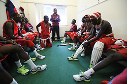 Maasai Warriors' cricket team prepare to play against Cavaliers & Carrington Cricket Club during their UK tour to raise awareness of gender inequality, the End FGM Campaign, hate crime, modern slavery, conservation and promoting their culture and country, Kenya