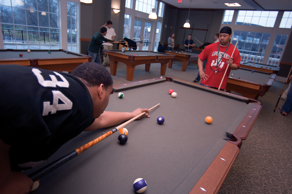 New Baker Center Interior Shots/students...Josh Cosper, J. Jivens(red shirt)