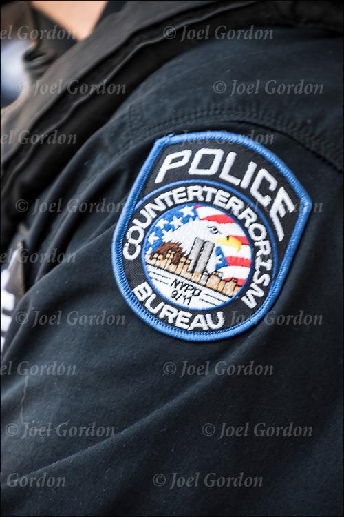 NYPD Counter Terrorism Bureau  uniform emblem patch.