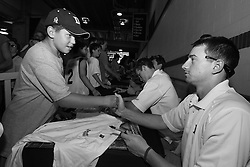 27 May 2007: Duke Blue Devils attackman Matt Danowski (40) signs autographs at M&T Bank Stadium in Baltimore, MD.