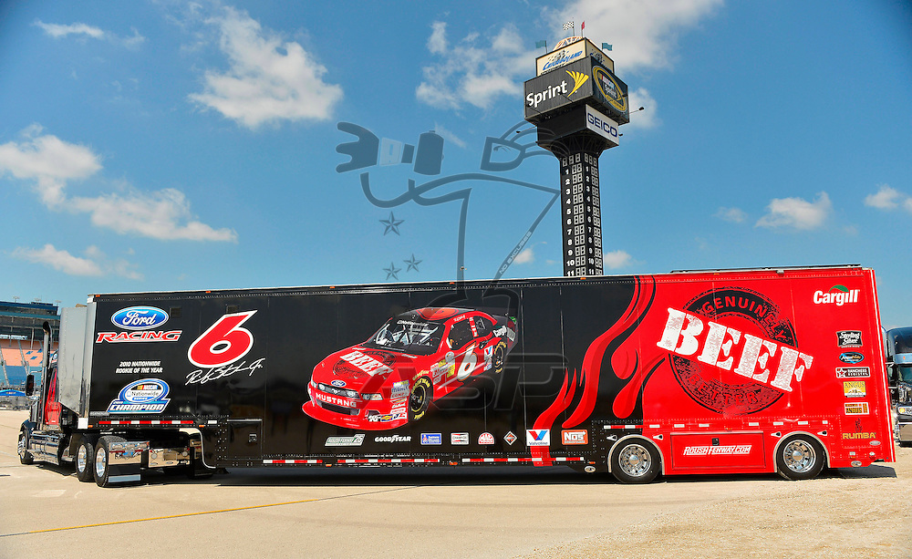 Joliet,Il - JUL 21, 2012: Ricky Stenhouse Jr. hauler arrives at Chicagoland Speedway for the STP 300 at Chicagoland Speedway in Joliet, Il.