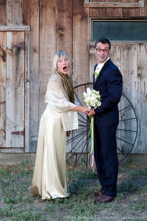 Wedding of Marshall and Megan in Mazama, Washington.