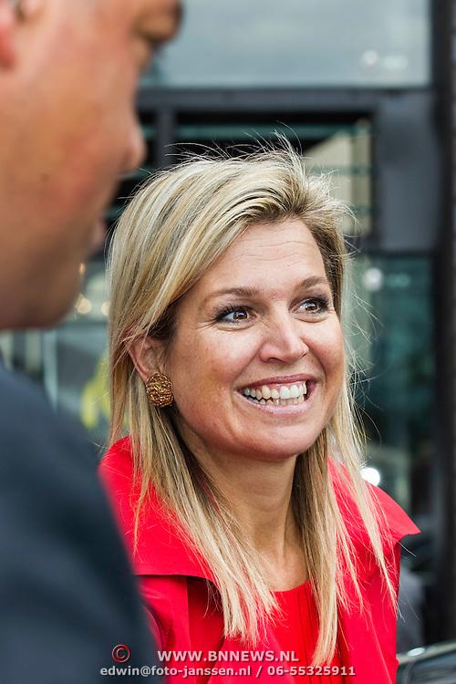 NLD/Eindhoven/20140623 - Vertrek Koningin Maxima bij bijeenkomst Kracht on Tour<br /> <br /> Queen Maxima attends the Power on Tour meeting in Eindhoven the Netherlands