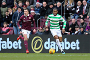 Olivier Ntcham (#21) of Celtic on the during the Ladbrokes Scottish Premiership match between Heart of Midlothian and Celtic at Tynecastle Stadium, Gorgie, Scotland on 17 December 2017. Photo by Craig Doyle.
