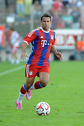 18.07.2014, Memminger Arena, Memmingen, GER, Traumspiel, Fanclub Red Baroons vs FC Bayern Muenchen, im Bild Neuzugang Juan Bernat (FC Bayern Muenchen) // during a dream match between Fanclub Red Baroons an FC Bayern Muenchen Memminger Arena in Memmingen, Germany on 2014/07/18. EXPA Pictures © 2014, PhotoCredit: EXPA/ Eibner-Pressefoto/ Stuetzle<br /> <br /> *****ATTENTION - OUT of GER*****