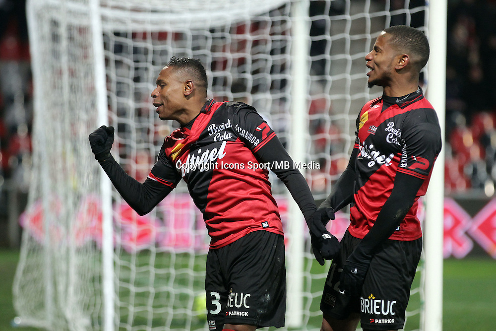 Christophe MANDANNE /  Claudio BEAUVUE - 24.01.2015 - Guingamp / Lorient - 22eme journee de Ligue1<br />