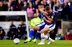 Jonson Clarke-Harris of Bristol Rovers is challenged by George Ray of Tranmere Rovers - Mandatory by-line: Ryan Hiscott/JMP - 20/08/2019 - FOOTBALL - Memorial Stadium - Bristol, England - Bristol Rovers v Tranmere Rovers - Sky Bet League One