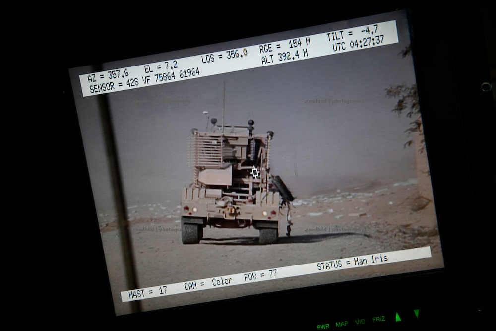 A Screenshot just seconds after an IED has hit a Husky vehicle to detect hidden IED in Nawabad. A Route Clearance Package (RCP) patrols to identify hidden IED´s along a certain road.
