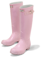 pink wellington rubber boots by hunter
