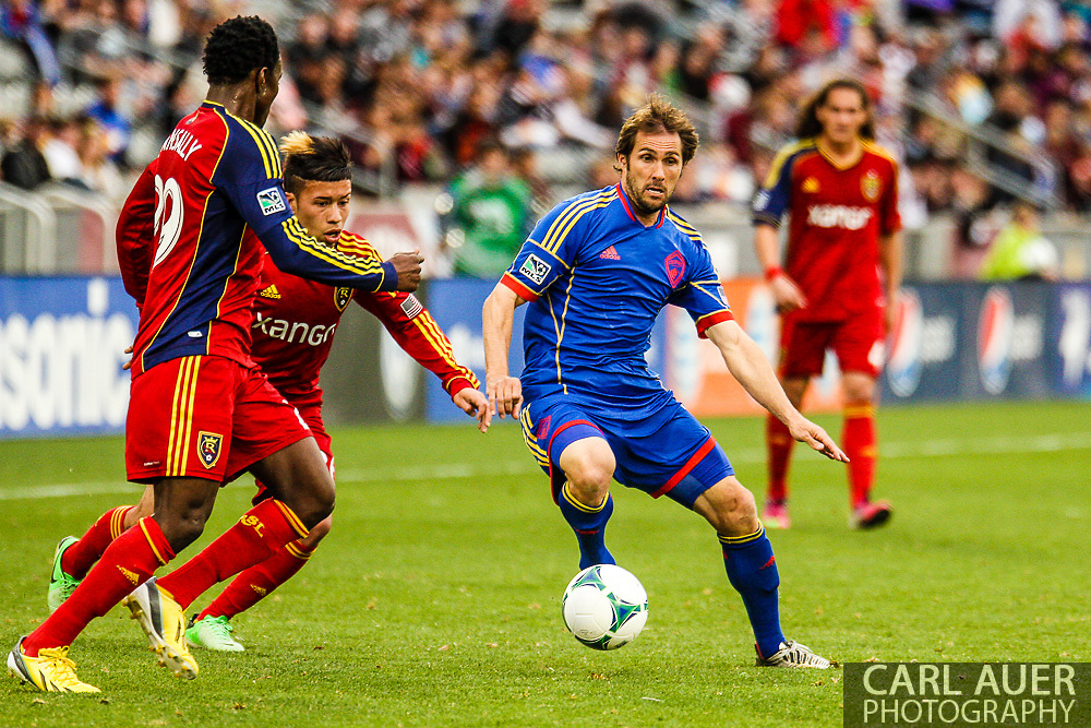 April 6th, 2013 - Colorado Rapids midfielder Brian Mullan (11) makes a move past the Real Salt Lake defense in first half action of the MLS match between Real Salt Lake and the Colorado Rapids at Dick's Sporting Goods Park in Commerce City, CO