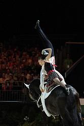 Brooke Boyd, Todd Griffiths, (CAN), Bankey Moon, Becca Hewit - Pas de Deux Vaulting - Alltech FEI World Equestrian Games™ 2014 - Normandy, France.<br /> © Hippo Foto Team - Jon Stroud<br /> 04/09/2014