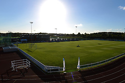 A general view of Stoke Gifford Stadium before Bristol Academy Womens play Oxford United Ladies  - Mandatory byline: Dougie Allward/JMP - 07966386802 - 27/08/2015 - FOOTBALL - Stoke Gifford Stadium -Bristol,England - Bristol Academy Women FC v Oxford United Women - FA WSL Continental Tyres Cup