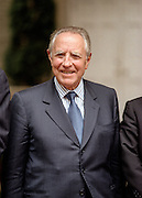 The treasury minister of Italy, Carlo Azeglio Ciampi during the group picture for the Annual IMF and World Bank meeting October 6, 1998 in Washington, DC. Ciampi backed proposals to give the IMF's policy-making interim committee more teeth.