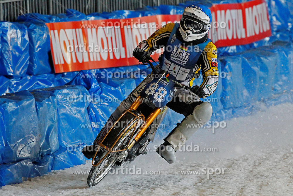 13.03.2016, Assen, BEL, FIM Eisspeedway Gladiators, Assen, im Bild Max Niedermaier (GER) // during the Astana Expo FIM Ice Speedway Gladiators World Championship in Assen, Belgium on 2016/03/13. EXPA Pictures &copy; 2016, PhotoCredit: EXPA/ Eibner-Pressefoto/ Stiefel<br /> <br /> *****ATTENTION - OUT of GER*****