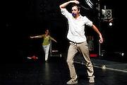 INDIVISIBILITES (2011).Festival Montpellier danse.Conception, interpretation.Deborah Hay.Laurent Pichaud.Dispositif theatral.Laurent Pichaud.En dialogue avec  .Ludovic Rivière.Assistant.Kenan Trevien