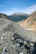 Glacial moraines above Salal Creek, Coast Mountains British Columbia Canada