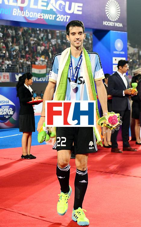 Odisha Men's Hockey World League Final Bhubaneswar 2017<br /> Match id:<br /> Ceremony<br /> Foto: Matias Rey (Arg) <br /> COPYRIGHT WORLDSPORTPICS FRANK UIJLENBROEK