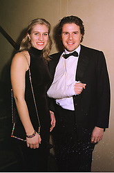 MR & MRS MARK STEWART he is the son of racing driver Jackie Stewart, at a dinner in London on 1st December 1998.MMN 14