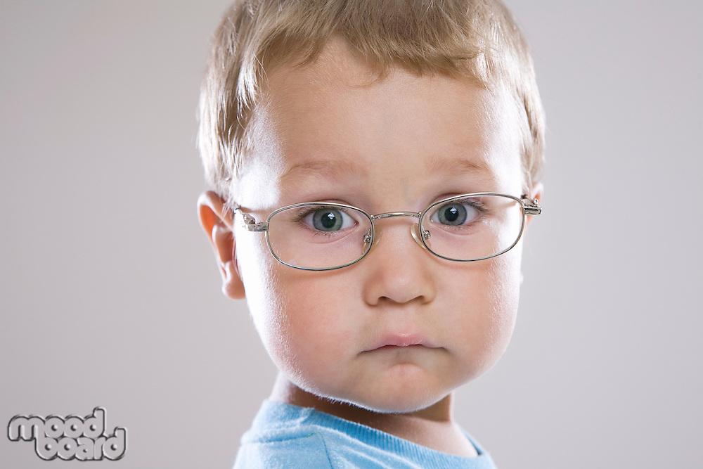 Boy in glasses portrait