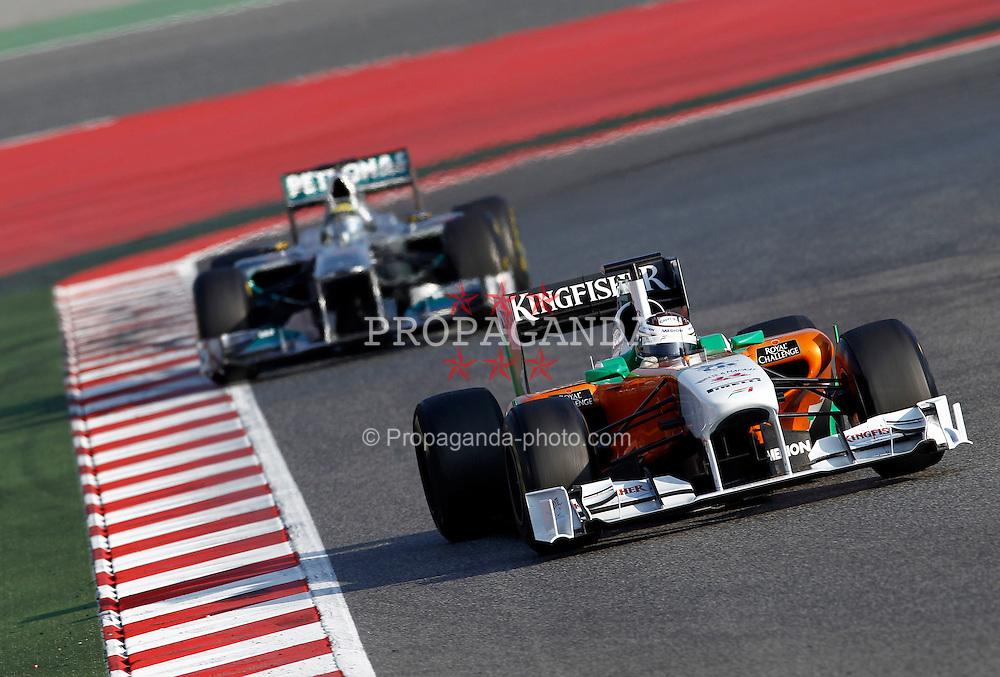 Motorsports / Formula 1: World Championship 2011, Testing in Barcelona, test, 14 Adrian Sutil (GER, Force India F1 Team), 08 Nico Rosberg (GER, Mercedes GP Petronas),