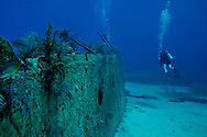 Starboard Side of Bow Section, Oro Verde, Shipwreck, Grand Cayman