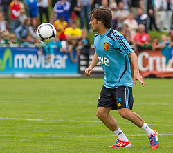 28.05.2012, Sportplatz Golm FC Schruns, Schruns, AUT, UEFA EURO 2012, Trainingslager, Spanien, im Bild David Silva (ESP) David Silva of Spain during of Spanish National Footballteam for preparation UEFA EURO 2012 at Sportplatz Golm FC Schruns, Schruns, Austria on 2012/05/28. EXPA Pictures © 2012, PhotoCredit: EXPA/ Peter Rinderer