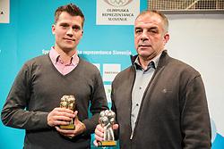 Marcel Rodman and Matjaz Kopitar at Slovenian Sports personality of the year 2014 annual awards presented on the base of Slovenian sports reporters, on December 9, 2014 in Cankarjev dom, Ljubljana, Slovenia. Photo by Vid Ponikvar / Sportida