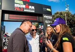 Tomaz Ambrozic, Milan Erzen, Mateja Kos and Tina Maze at Ironman 70.3 Slovenian Istra 2018, on September 23, 2018 in Koper / Capodistria, Slovenia. Photo by Vid Ponikvar / Sportida