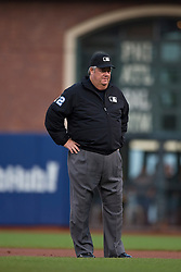 SAN FRANCISCO, CA - MAY 05:  MLB umpire Joe West #22 stands on the field during the first inning between the San Francisco Giants and the San Diego Padres at AT&T Park on May 5, 2015 in San Francisco, California.  The San Francisco Giants defeated the San Diego Padres 6-0. (Photo by Jason O. Watson/Getty Images) *** Local Caption *** Joe West