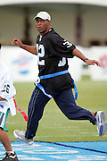 KAPOLEI - FEBRUARY 9:  Marcus Allen, member of the Pro Football Hall of Fame and former running back for the Los Angeles Raiders, participates in a NFL legends flag football game during the 2006 NFL Pro Bowl week at the Ko Olina resort on February 9, 2006 in Kapolei, Hawaii. ©Paul Spinelli/SpinPhotos *** Local Caption *** Marcus Allen