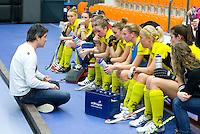 ROTTERDAM - Jisse Waasdorp met dames Terriers. NK Zaalhockey hoofdklasse. FOTO KOEN SUYK