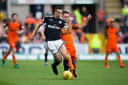 Dundee forward Faissal El Bakhtaoui (#20) is pursued by Dundee United forward Scott McDonald (#8) during the Betfred Scottish Cup group stage match between Dundee and Dundee United at Dens Park, Dundee, Scotland on 29 July 2017. Photo by Craig Doyle.