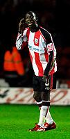 Photo: Alan Crowhurst.<br />Southampton v Cardiff City. Coca Cola Championship. 13/03/2007. Saints' Bradley Wright-Phillips celebrates his goal 2-0.