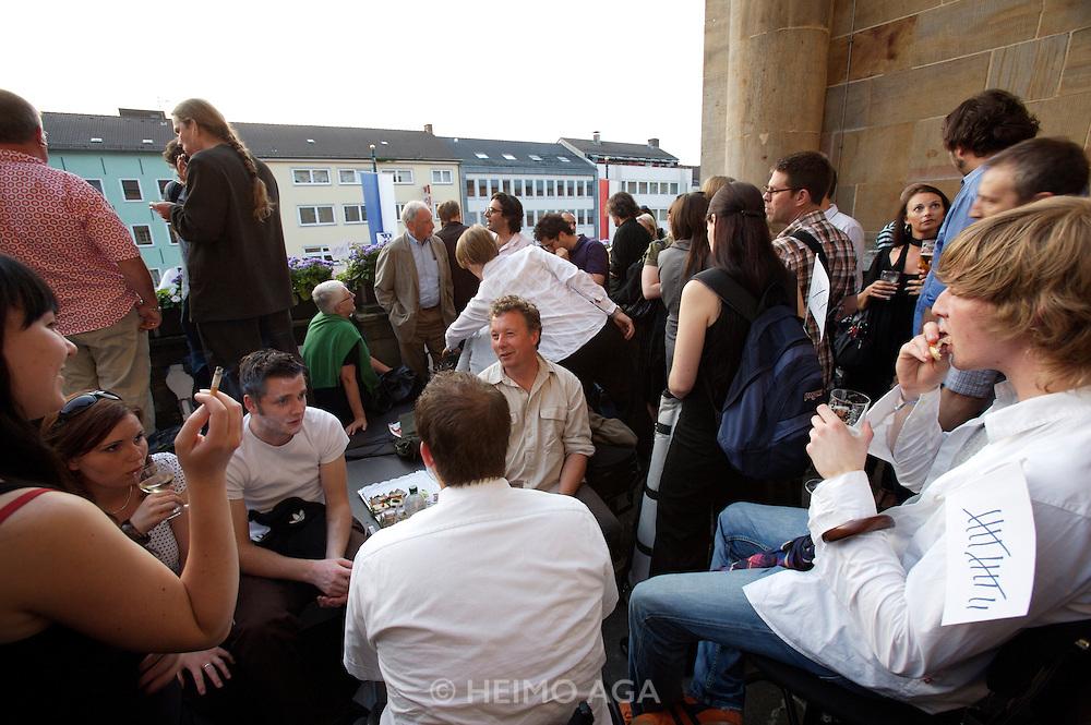 documenta12. Press reception at the Rathaus (City Hall).