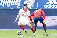Sevilla's Jovetic and Club Atletico Osasuna's Tano Bonnin during the match of La Liga between Club Atletico Osasuna and Sevilla Futbol Club  at El Sadar Stadium in San Sebastian, Spain. January 22th 2017. (ALTERPHOTOS/Rodrigo Jimenez)