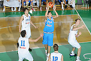 DESCRIZIONE : Bologna Coppa Italia 2006-07 Nazionale Italiana Under 18 Bianchi contro Blu <br /> GIOCATORE : Da Ros <br /> SQUADRA : Nazionale Italiana Blu <br /> EVENTO : Campionato Lega A1 2006-2007 Tim Cup Final Eight Coppa Italia Camp Nazionale Italiana Under 18 <br /> GARA : Nazionale Italiana Under 18 Bianchi contro Blu <br /> DATA : 10/02/2007 <br /> CATEGORIA : Tiro <br /> SPORT : Pallacanestro <br /> AUTORE : Agenzia Ciamillo-Castoria/S.Silvestri <br /> Galleria : FIP Nazionale Italiana <br /> Fotonotizia : Bologna Coppa Italia 2006-2007 Nazionale Italiana Under 18 Bianchi contro Blu <br /> Predefinita :