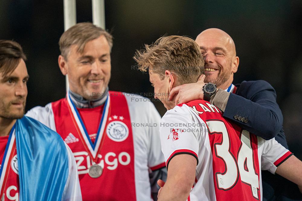 15-05-2019 NED: De Graafschap - Ajax, Doetinchem<br /> Round 34 / It wasn't really exciting anymore, but after the match against De Graafschap (1-4) it is official: Ajax is champion of the Netherlands / Coach Erik ten Hag of Ajax, Frenkie de Jong #21 of Ajax