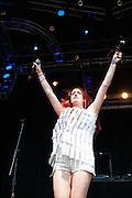 Caroline Hjelt of Icona Pop at Lollapalooza