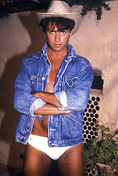 April 18, 2012 - London, England, United Kingdom - GEORGE MICHAEL OF WHAM DURING THE CLUB TROPICANA VIDEO... /..*** HIGHER RATES APPLY  (Credit Image: © Frank Griffin/Avalon via ZUMA Press)