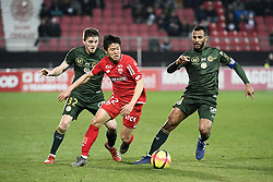 March 9, 2019 - Dijon, France - 22 CHANGHOON KWON (DIJ) - 32 THOMAS FOKET (REI) - 04 ALAIXYS ROMAO  (Credit Image: © Panoramic via ZUMA Press)