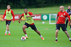 CARDIFF, WALES - Friday, September 2, 2016: Wales' captain Ashley Williams during a training session at the Vale Resort ahead of the 2018 FIFA World Cup Qualifying Group D match against Moldova. (Pic by David Rawcliffe/Propaganda)
